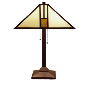 Tiffany Style White Mission Style Table Lamp