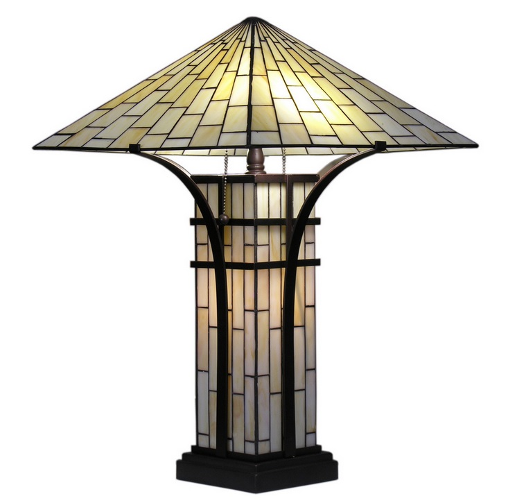 Unique chic decor tiffany style mission double light table lamp tiffany style mission 2 light ivory table lamp aloadofball Gallery