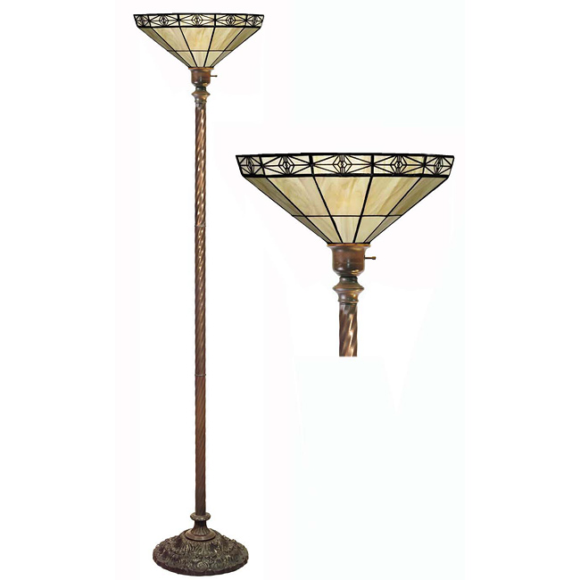 Mission Off Yellow Torchiere Lamp